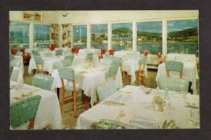Dining Room Baker H Motel GASPE QUEBEC CANADA Postcard