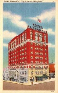 Maryland Hagerstown Hotel Alexander