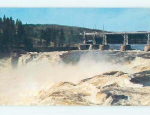 Pre-1980 TOWN VIEW SCENE Grand Falls New Brunswick NB p9839