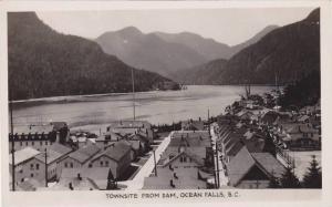 RP: OCEAN FALLS , B.C. , Canada , 30-40s ; Townsite from dam