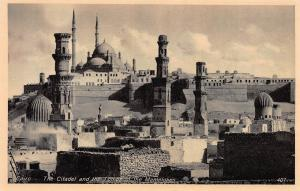Citadel and the Tombs of the Mamelukes, Cairo, Egypt,  Early Postcard, Unused