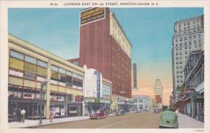 North Carolina Winston Salem 4th Street Looking East