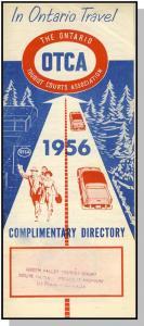 1956 OCTA Travel Brochure, Ontario,Canada Tourist Courts