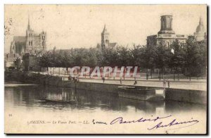 Amiens Old Postcard The old port