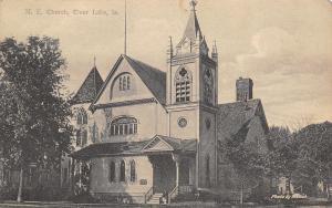 Clear Lake Iowa~United Methodist Episcopal~Nice Tower c1910 B&W