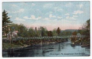 Skowhegan, Me., Suspension Foot Bridge