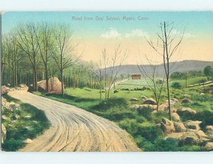Divided-back COUNTRY ROAD Mystic - Near Groton & Stonington CT AD7636