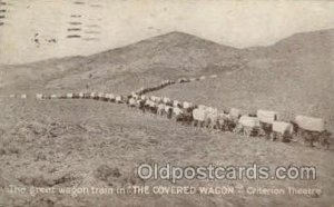 The Covered Wagon Theater 1923 internal creases hard to see from front, posta...