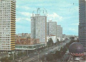 Postcard general view Kalinin Avenue Moscow Russia