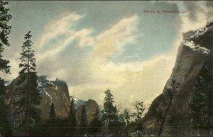 Yosemite CA Storm Weather c1910 Postcard - M. Rieder