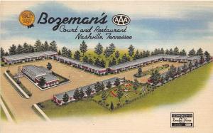 A60/ Nashville Tennessee Tn Postcard Linen Bozeman's Court Restaurant