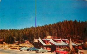 Autos Grand Lake Estes Park Colorado Southway Lodge 1960s Postcard Tichnor 5062