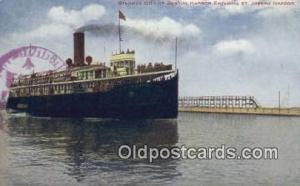 Steamer City Of Benton Harbor Steam Ship Postcard Post Cards  City of Benton ...