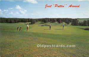 Old Vintage Golf Postcard Post Card Just Puttin Around Unused