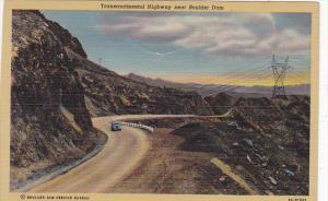 Transcontinental Highway Near Boulder Dam Nevada Curteich