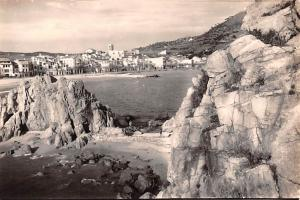 Spain Old Vintage Antique Post Card Vista Parcial Blanes Unused