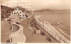 Parade looking East Promenade Bay Private Hotel Lyme Regis