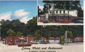 FLORENCE, South Carolina, PU-1958; Colony Motel and Restaurant