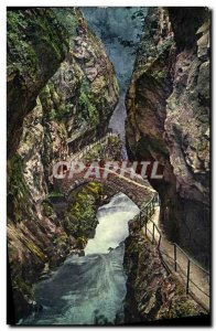 Old Postcard The Areuse Gorges Au Saut Brot