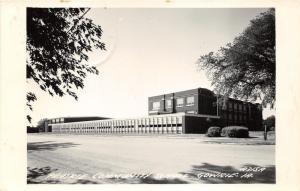 Gowrie Iowa~Prairie Community School Building~RPPC-Postcard Mailed 1964