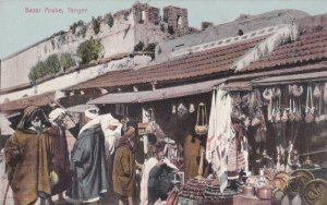Morocco Tangiers Bazar Arabe Typical Market Scene sk3111