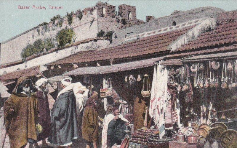 Morocco Tangiers Bazar Arabe Typical Market Scene sk3111