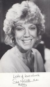 Sue Nicholls Audrey Coronation Street TV Granada ITV Printed Signed Cast Card