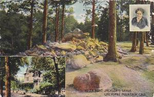 3-Views, Helen Hunt Jackson's Grave, Cheyenne Mountain, Colorado, PU-1913