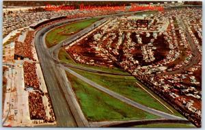 Daytona International Speedway Florida Postcard Race Scene c1960s Chrome Unused