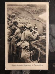 1917 Germany RPPC Postcard WW1 Wehrmacht Soldiers in Trench Machine Gun Company