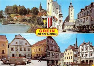 Grein an der Donau Schloss Greinburg, Rathaus Theater Auto Cars