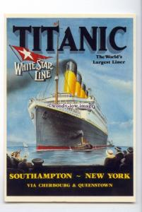 LN1506 - White Star Liner - Titanic , built 1912 - modern advert postcard