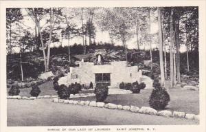 New York Saint Josephs Shrine Of Our Lady Of Lourdes Albertype