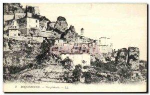 Old Postcard Roquebrune General view