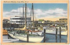 Rafferty's Marina Cape May New Jersey Mailed 1964