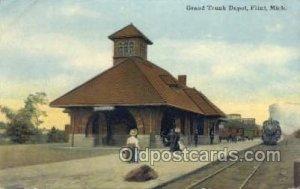 Grand Trunk Depot, Flint, MI, Michigan, USA Train Railroad Station Depot Unused