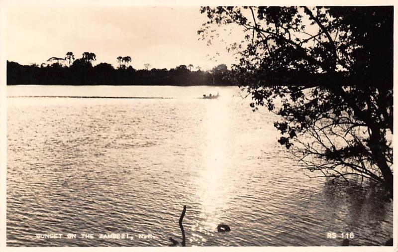 Zambia Sunset on the Zambezi Ndola Real Photo