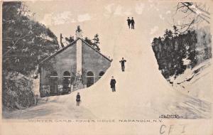 NAPANOCH NEW YORK~POWER HOUSE-WINTER GARB~A V PORTER PHOTO POSTCARD 1907 PMK