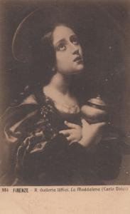 Carlo Dloci La Maddalena Galleria Painting Firenze Antique Art Gallery Postcard