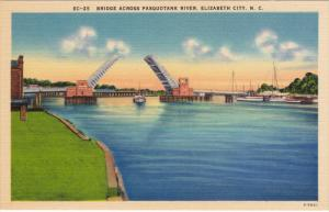Bridge Across Pasquotank River, ELIZABETH City, North Carolina, 1930-1940s