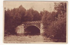 P528 JLs vintage bridge over inlet blue mt,s lake new york