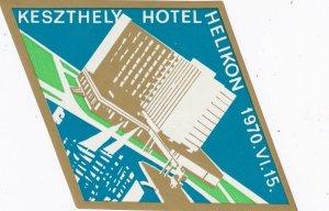 Hungary Keszthely Hotel Helikon Vintage Luggage Label sk3648