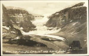 Byron Harmon #1034 Icefields Chalet & Snow Dome Real Photo Postcard