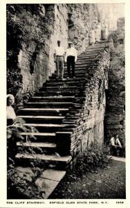 New York Enfield Glen State Park The Cliff Stairway 1938