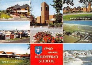 GG12674 Nordseebad Schillig Campingplatz Kirche Einkaufsstrasse Ferienhaus