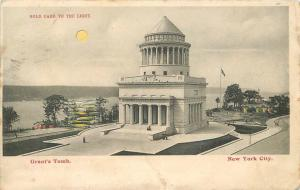1907 New York Grants Tomb Hold to Light Postcard