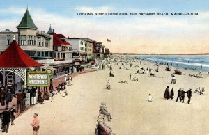 ME - Old Orchard Beach. Whiteway Amusements, North from Pier