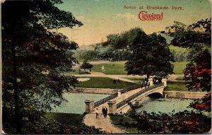 1913 - PPC POSTCARD OHIO CLEVELAND BROOKSIDE PARK THE ZOO PRETTY