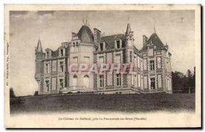 Old Postcard The Chateau du Pres Deffend La Pommeraie Sur Sevre