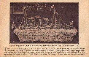 Washington DC SS Leviathan Floral Replica Vintage Postcard AA29031